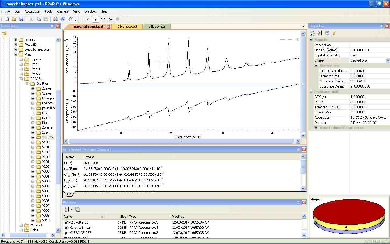 PRAP : Piezoelectric Resonance Analysis Program | TASI