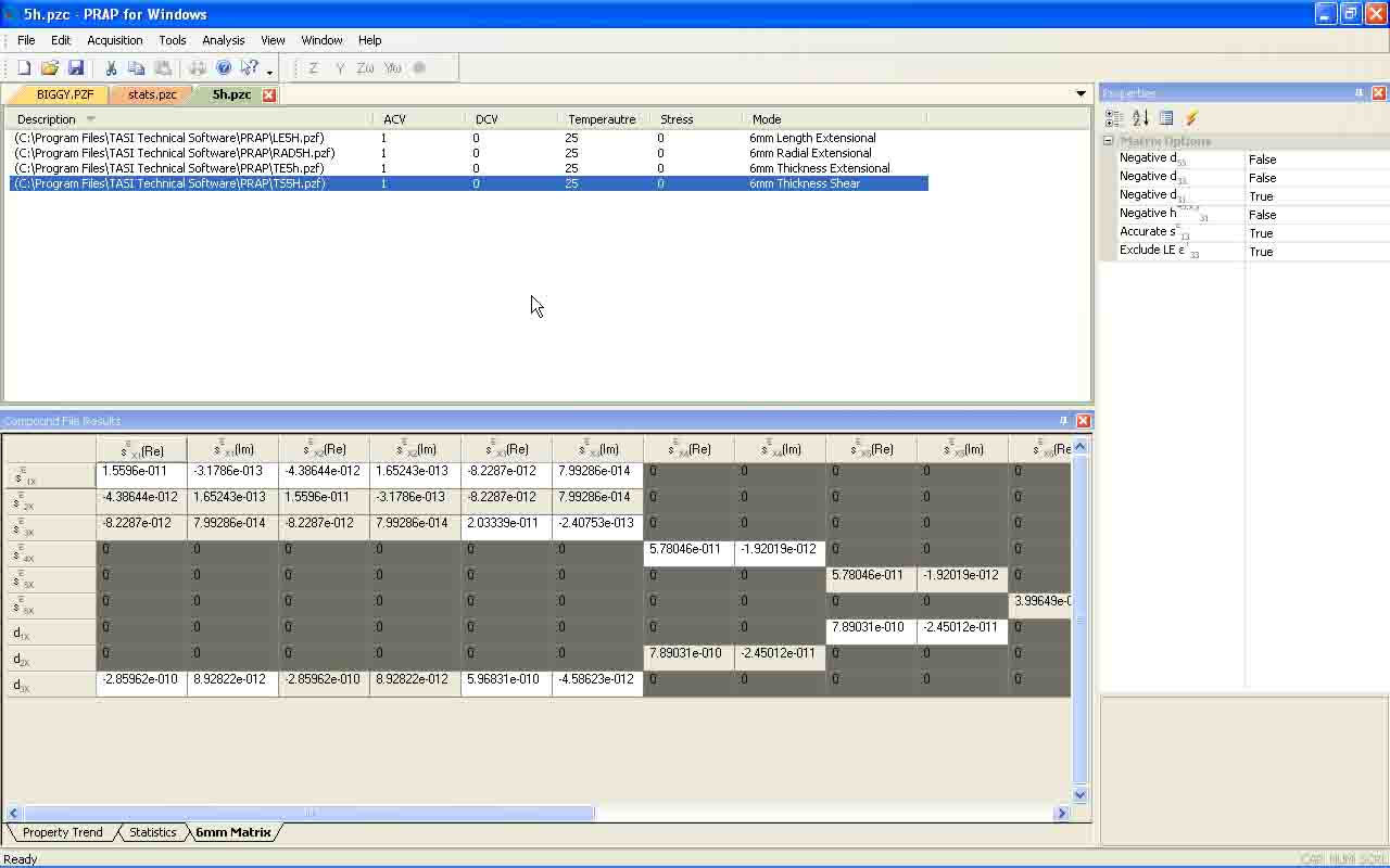 PRAP : Piezoelectric Resonance Analysis Program   TASI Technical